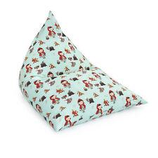 Little Red Large Childrens Pyramid Shape Bean Bag Gaming Beanbag Chair Gamer