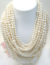Vintage Jewelry Cultured Fresh Water  Pearls  925 Necklace
