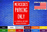 "Mercedes Parking Only 8""x12"" American White Aluminum Sign Choose Color Novelty !"