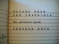 Voices From the Inaudible (Theodore Reik, 1964 1st Printing HC) No Dust Jacket