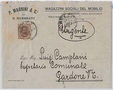 ITALIA REGNO: storia postale - Sassone 45  ISOLATO su BUSTA  1900