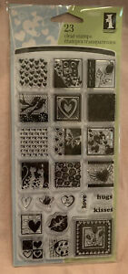 Inkadinkado Clear Stamps Inchies Heartful Of Love Valentines Day Hugs Kisses NEW