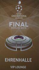 VIP Lounge Pass UEFA CL Finale 2015 Juventus FC - FC Barcelona (Ehrenhalle)