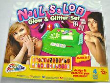 NAIL SALON GLOW & GLITTER SET,  SALONE DECORAZIONI UNGHIE, GIOCATTOLO