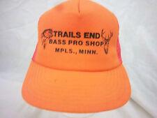 trucker hat baseball capTRAILS END BASS PRO SHOP retro snapback cool mesh 1980