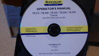 NEW HOLLAND T8.275-390 TRACTOR OPERATORS MANUAL ON CD CD1