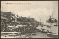 Egypt - Port Said - General View of The Quay - Savoy - Vintage Printed Postcard
