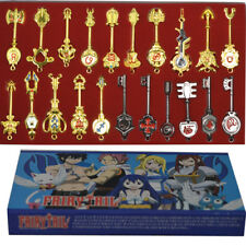 21pcs of Set Cosplay Fairy Tail Lucy Celestial Spirit Gate Keys Necklace Pendant
