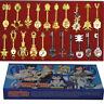 21pcs of Set Cosplay Fairy Tail Lucy Celestial Spirit Gate Keys Necklace Pendant