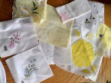 Vintage Handkerchief hankie lot some with tag