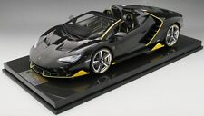 1/12 scale Looksmart Lamborghini Centenario Roadster Black  Carbon Fiber Base