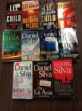 Daniel Silva & Lee Child Lot of 11 PB Best Sellers! Intrigue, Mystery, Spies