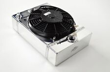 """CSF 7065 The KING Cooler Small Compact Aluminum Radiator and 9"""" Spal Fan"""