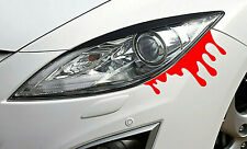 2 Blood Drips Stickers Decals Red Self-Adhesive Vinyl Auto Car Window Bumper +
