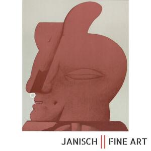 """HORST ANTES - """"Hornkopf"""", Farblithographie, handsigniert, Auflage 100, 1970!"""