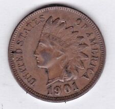 1901 INDIAN HEAD CENT in ABOUT UNCIRCULATED condition :  stk s10
