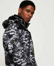 Superdry Mens Arctic Hooded Print Pop Zip Sd-Windcheater Jacket