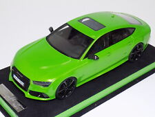 1/18 MotorHelix Audi RS7  in Apple Green Metallic with Black Wheels