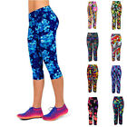 Lady Floral High Waist Slim Stretch Leggings Tight Workout Yoga Capirs Pant D78
