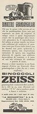 Z3079 Binoccoli grandangolari ZEISS - Pubblicità - 1933 old advertising