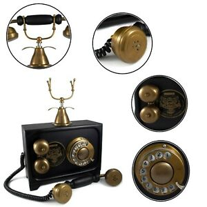 Brass Telephone Landline Rotary Dial Telephone Table/Desk Top Decorative Gifts