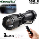 5000LM CREE Q5 AA/14500 3 Modes Strap ZOOMABLE LED Tactical Flashlight Torch US