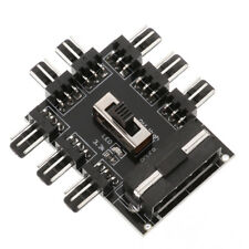 8 Way 3 Gear PCI Cooler Cooling Fan Speed Controller Hub 4/3pin Power Socket