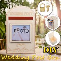 DIY Wedding Card Box with Lock Rustic Wooden Card Post Box Gift Wedding Favors