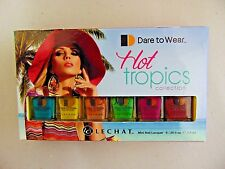 LECHAT HOT TROPIC Collection Set of 6 Mini Nail Lacquer 6 x .25 oz