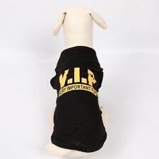 Black VIP Dog T Shirt Small Dog Clothes Cat TShirt Very Important Pup Dog Shirt