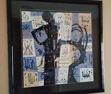 1988 Two Sisters By He Neng Limited Edition Serigraph Framed