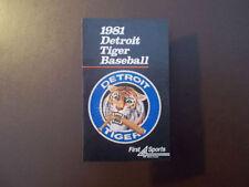 Detroit Tigers Baseball Pocket Vintage Sports Schedules