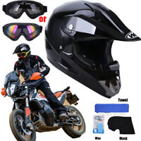 DOT Helmet Adult Motorcycle Full Face Offroad Dirt Bike ATV Goggles  M L XL XXL