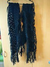 Hooch Long Chunky Knitted Black Scarf