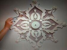 Large plaster ceiling rose, decorative plaster moulding set, home decor, 50 cm.