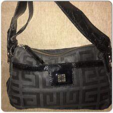47e271bf4096 GIVENCHY Jacquard Black Monogram Patent Leather Trim Handle Shoulder Bag