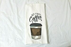 But First Coffee Kitchen Towel 15 X 25 Cotton Cup Mainstays Dish
