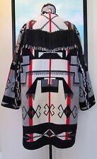 Native Jackets Santa Fe Native Wool Fringed Western Blanket Coat Sz L/XL