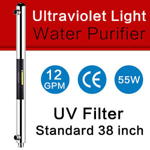 """Geekpure Ultraviolet Light Water Purifier UV 55w 12GPM For Whole House 1"""" Port"""