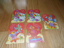 VTG Valentine's Day Card Circus tiger clown Lot 5 cards Current NEW