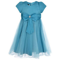 Girls Flower Dress Party Formal Wedding Bridesmaid Size Age 2 - 13 Years New