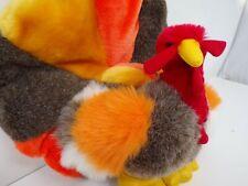 "Nwt vintage 1988 plush Turkey Christa Creations Playful 11"" tall stuffed toy 340"