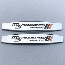 NEW (2pc) MAZDA SPEED MS LOGO FENDER DOOR METAL EMBLEM NAMEPLATE BADGE EM134