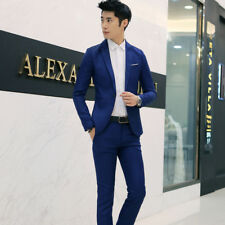 Men Formal Wedding Bridegroom Suit One Button Slim Fit Jacket Tuxedos Coat Pants