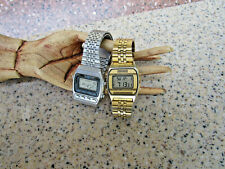 Vintage Mens Seiko Watch Lot of 2 A904 5109 Silver Wave A547 5020 LCD for repair