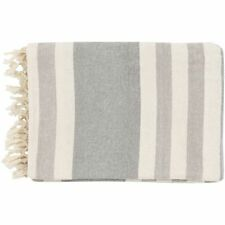 """Surya TOY7004-5070 Grey 50"""" X 70"""" Indoor Throw Blanket From The Troy Collection"""