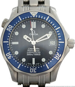 Omega Seamaster Professional Blue Dial Mid Size Mens Divers Watch