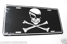 Skull and Cross Bones Pirate Jolly Roger license Plate 12 x 6 inches auto size