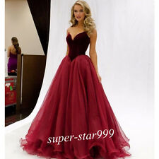 Sexy Evening Dress Formal Prom Party Pageant Ball Gown Wedding Dresses Custom