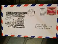 US Stamps 1949 Grand Rapids MI Air Mail First Flight Cover